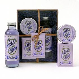 Lavender bath essence, hand cream and soap set